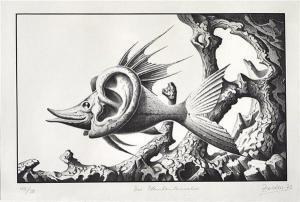 Zeichnung Hans-Joachim Zeidler - Der Plankenlauscher