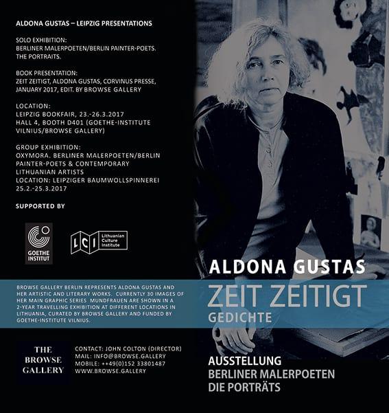 Aldona Gustas Flyer Leipziger Buchmesse