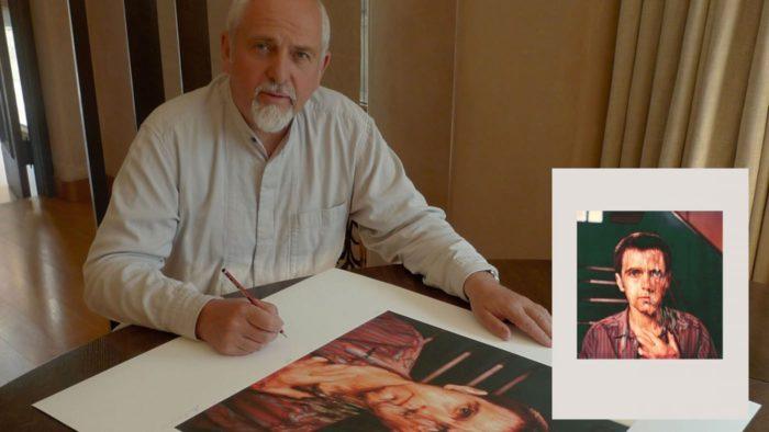 Peter Gabriel signiert Kunstdruck Melt Album Cover Art