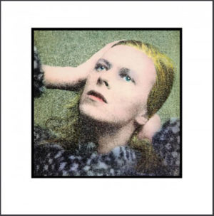 David Bowie, Hunky Dory. Album Cover Art by Terry Pastor, Photo by Brian Ward