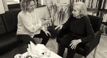 Foto Aldona Gustas Interview mit Vytene Muschickin der Litauischen Botschaft 2017