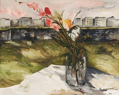 Gemälde Berliner Gladiolen von Karl Oppermann