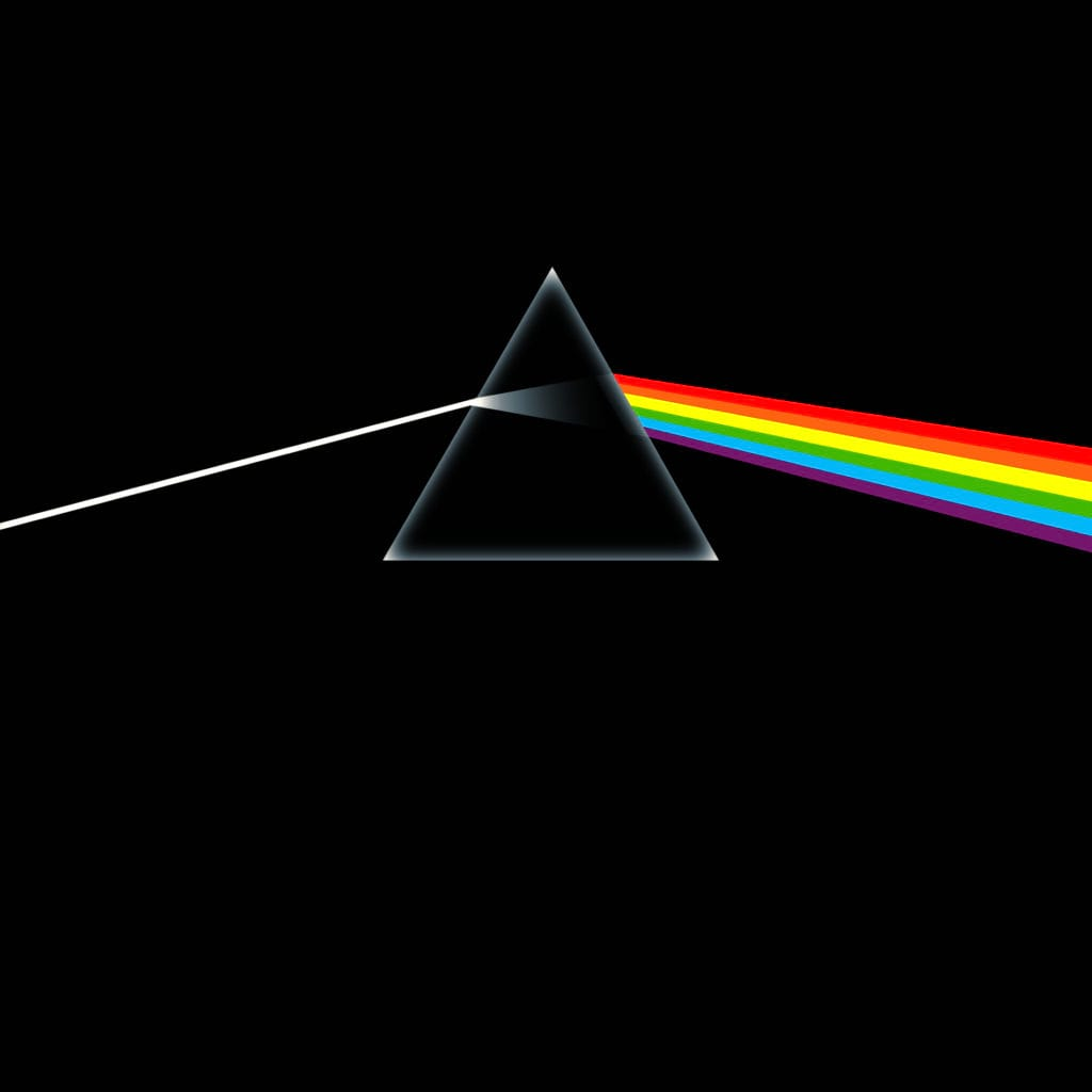 Album Cover Pink Floyd, Dark Side of the Moon, Aubrey Powell, Storm Thorgerson, graphic design: George Hardie (Hipgnosis)