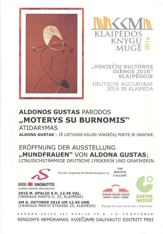 Poster Aldona Gustas Wanderausstellung
