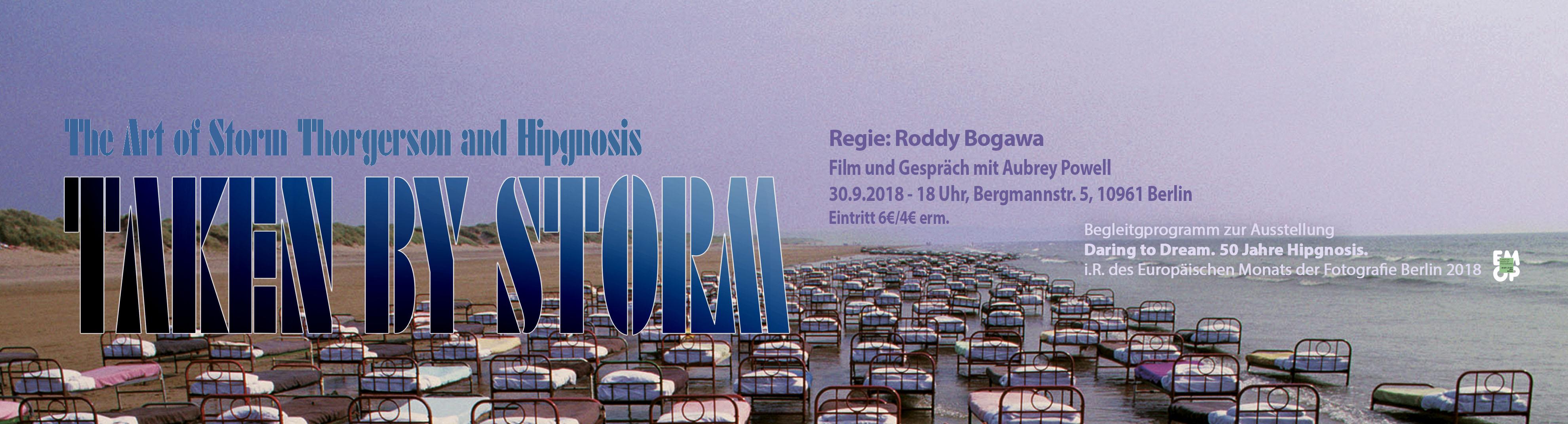 Poster: Taken by Storm. Dokumentarfilm über Storm Thorgerson von Roddy Bogawa. Bild: Pink Floyd, A Momentary Laps of Reason,. Design: Storm Thorgerson © Pink Floyd Ltd