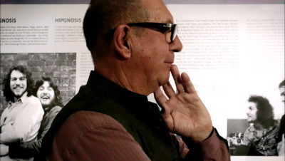 Aubrey Powell at Browse Gallery Exhibition Opening Daring to Dream. 50 Years of Hipgnosis. Photo: Jan Sobottka