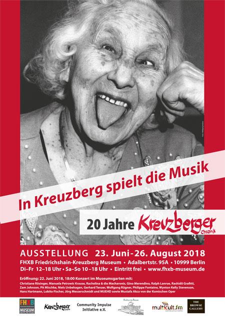 Kreuzberger Chronik Ausstellungsplakat, Marga Behrends, Foto Wolfgang Krolow
