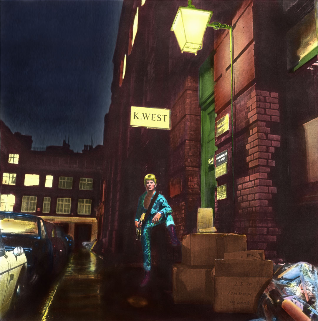 David Bowie, Ziggy Stardust, Album Cover Art © Terry Pastor, Photo Brian Ward