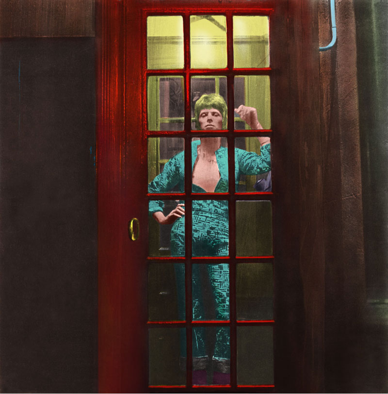 David Bowie, Ziggy Stardust, Phone Booth, Album Cover Art © Terry Pastor, Photo Brian Ward