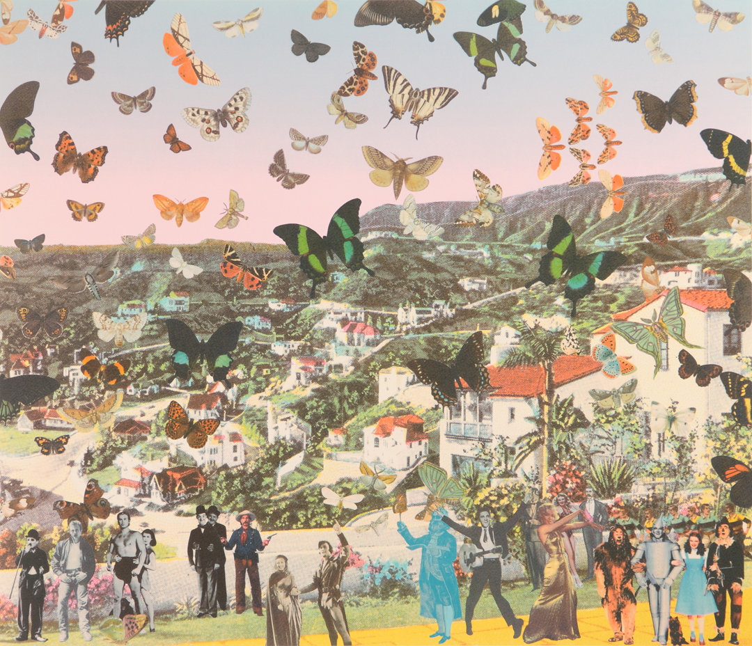Peter Blake. The Butterfly Man in Hollywoodland - Tribute to Damien Hirst