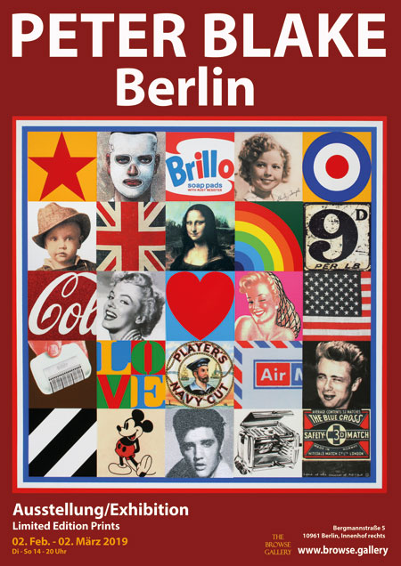 Peter Blake Berlin Browse Gallery Exhibition Poster