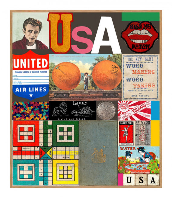 Peter Blake, USA Series: James Dean limited edition print